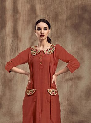 Muslin Party Party Wear Kurti