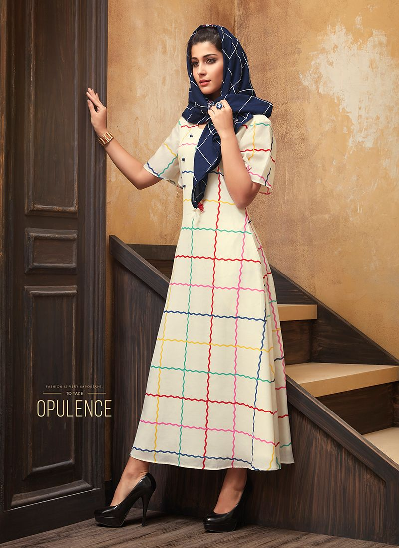 Muslin Print Party Wear Kurti