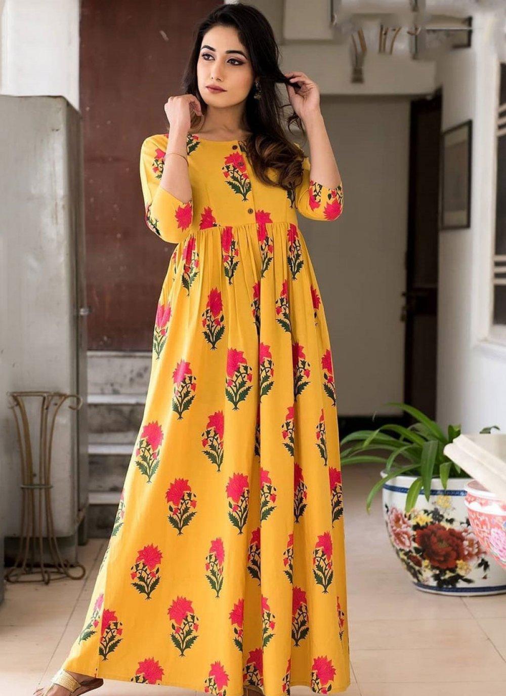 Muslin Trendy Gown