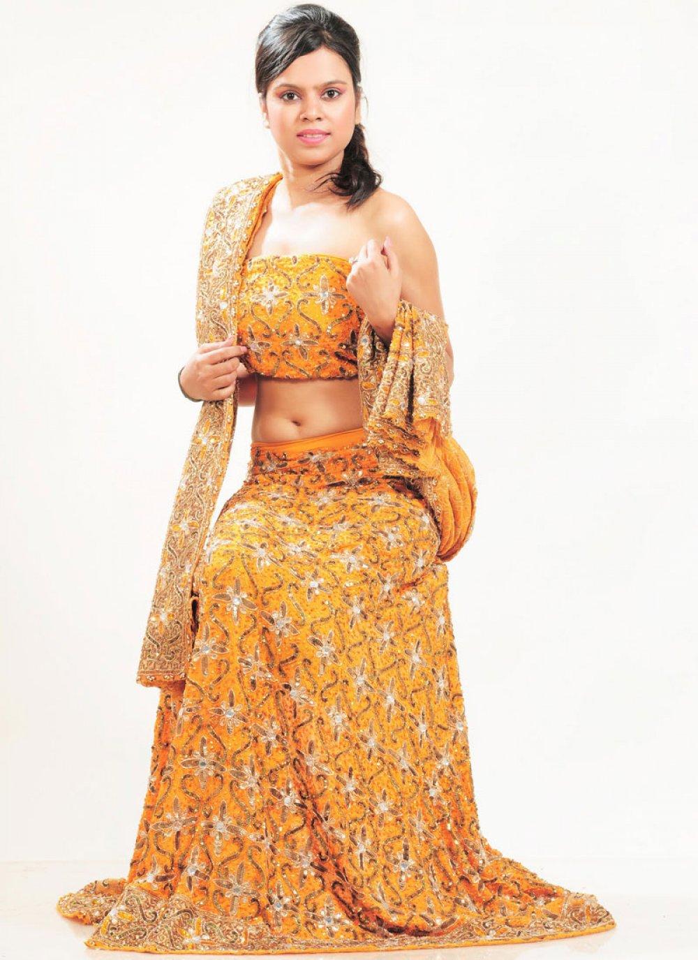 Mustard Bridal Lehenga Choli