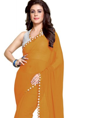 Mustard Casual Faux Georgette Saree