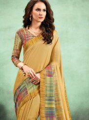 Mustard Casual Saree