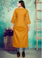 Mustard Color Party Wear Kurti
