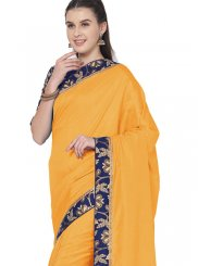 Mustard Color Traditional Saree