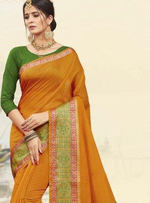 Mustard Designer Traditional Saree