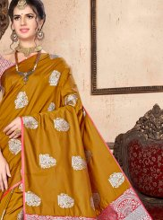 Mustard Festival Art Silk Traditional Designer Saree