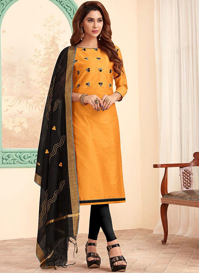 Mustard Festival Churidar Designer Suit