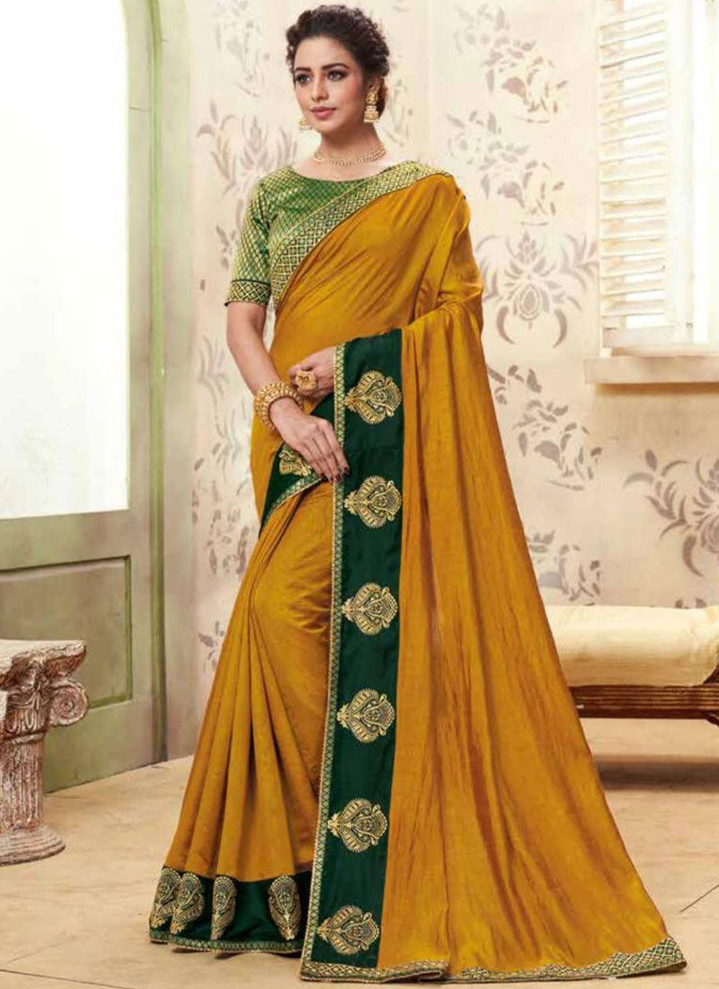 Mustard Party Classic Saree