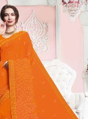 Mustard Party Traditional Saree