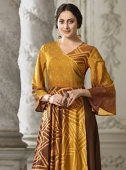 Mustard Party Wear Kurti