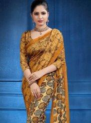 Mustard Tussar Silk Mehndi Classic Saree