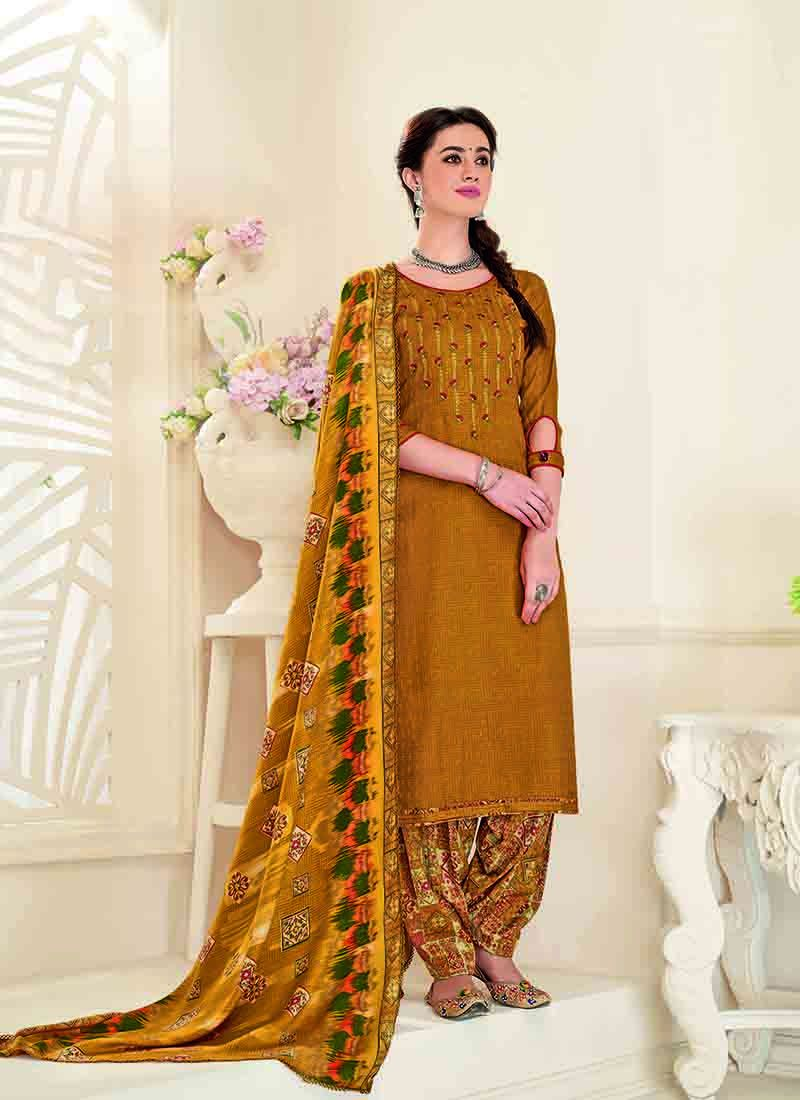 Mustard Wedding Designer Patiala Salwar Kameez