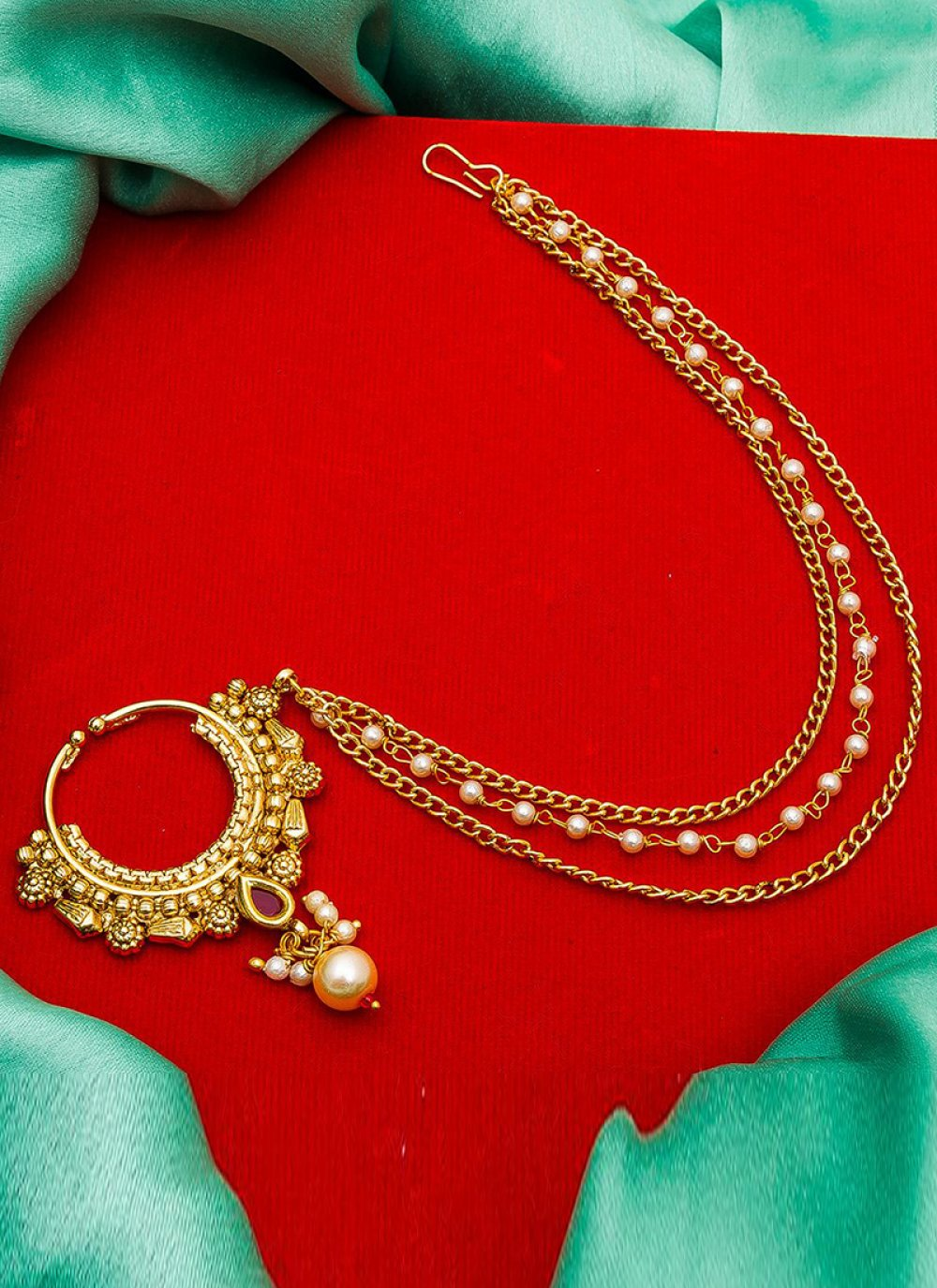 Nath Stone Work in Gold