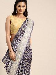 Navy Blue Art Silk Weaving Classic Saree