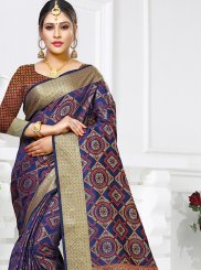 Navy Blue Art Silk Weaving Traditional Saree