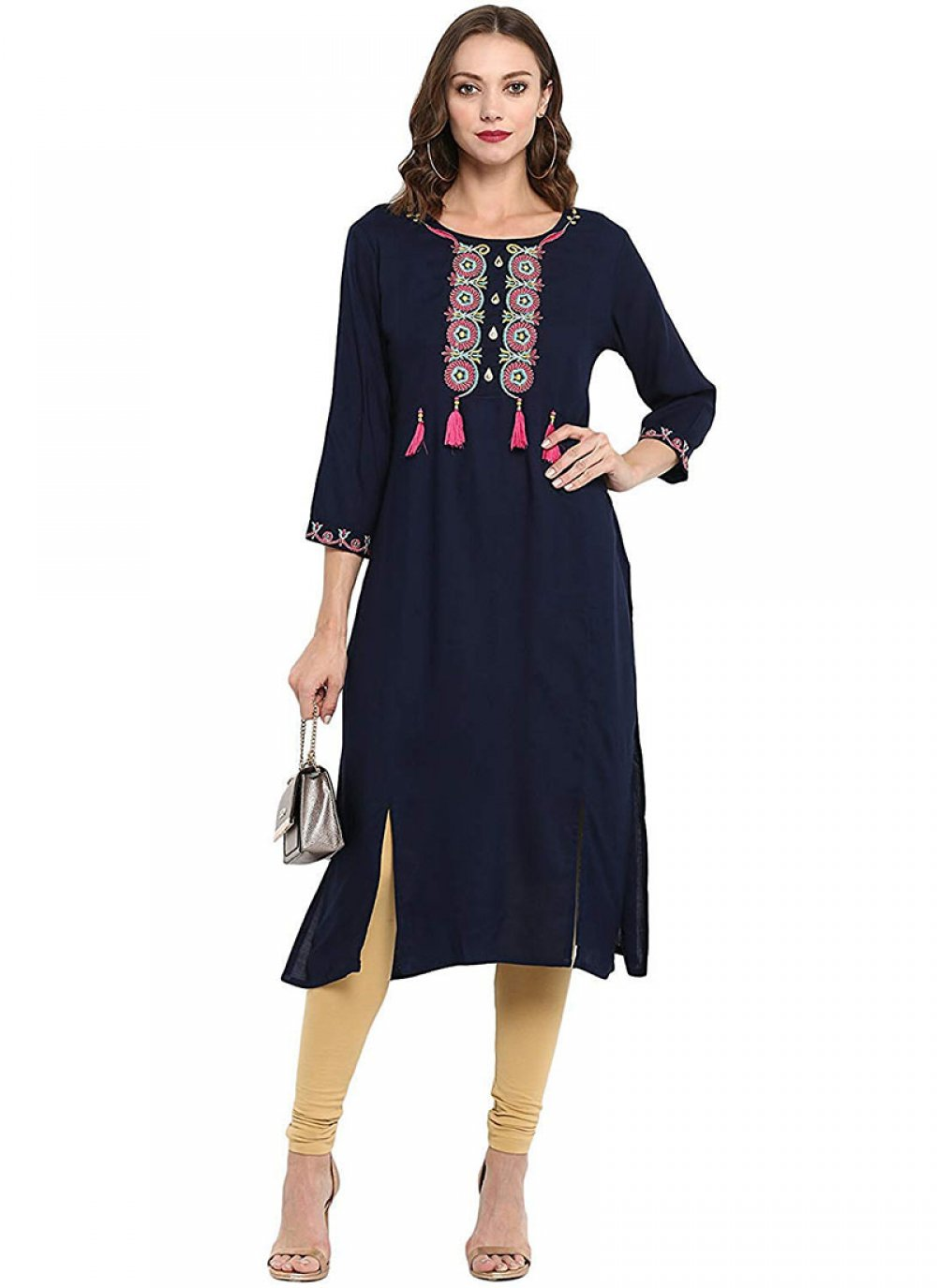 Navy Blue Ceremonial Party Wear Kurti