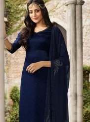 Navy Blue Churidar Suit