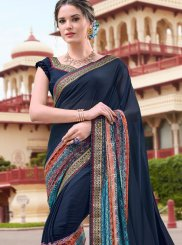 Navy Blue Color Casual Saree