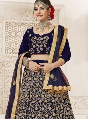 Navy Blue Color Designer Lehenga Choli