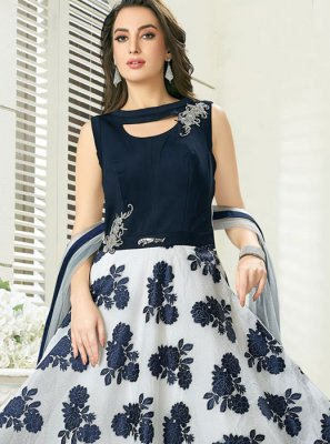 Navy Blue Color Readymade Gown