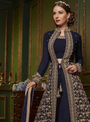 Navy Blue Designer Pakistani Suit