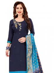 Navy Blue Festival Churidar Designer Suit
