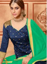 Navy Blue Festival Churidar Suit