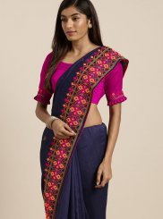 Navy Blue Festival Saree