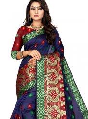 Navy Blue Festival Traditional Designer Saree
