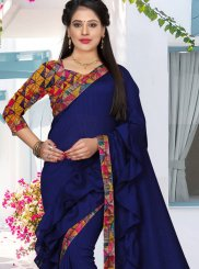 Navy Blue Festival Trendy Saree