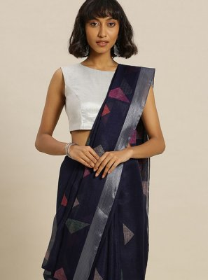 Navy Blue Party Casual Saree