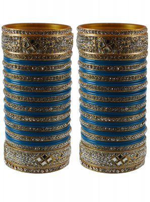 Navy Blue Reception Bangles