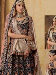 Navy Blue Reception Designer Lehenga Choli
