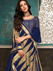 Navy Blue Resham Designer Salwar Suit
