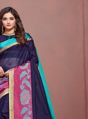 Navy Blue Traditional Designer Saree