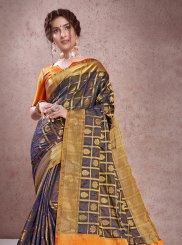 Navy Blue Weaving Art Silk Designer Traditional Saree
