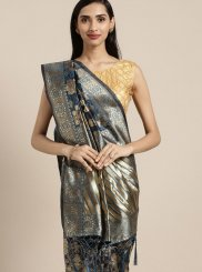 Navy Blue Weaving Classic Saree
