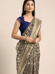Navy Blue Weaving Festival Designer Traditional Saree