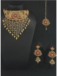 Necklace Set Kundan in Gold