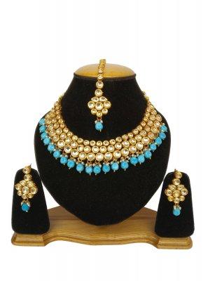 Necklace Set Kundan in Gold