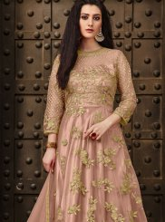Net Anarkali Salwar Suit in Pink