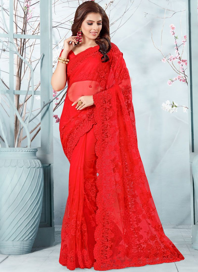 Net Ceremonial Traditional Designer Saree