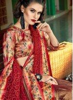 Net Classic Designer Saree in Maroon