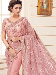 Net Classic Saree in Pink