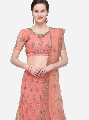 Net Diamond Peach Designer Lehenga Choli