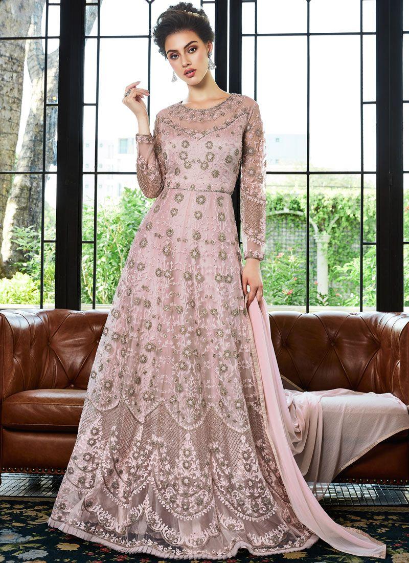 Net Embroidered Anarkali Salwar Suit