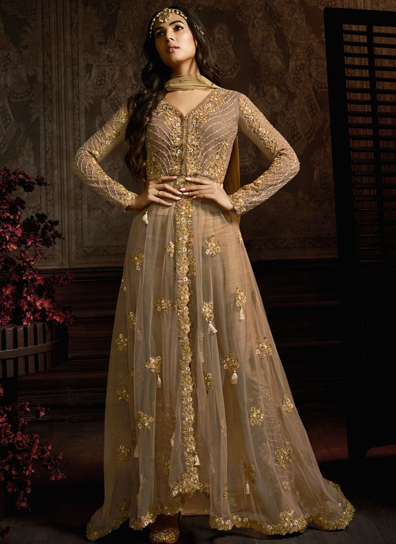 Net Embroidered Desinger Anarkali Salwar Kameez