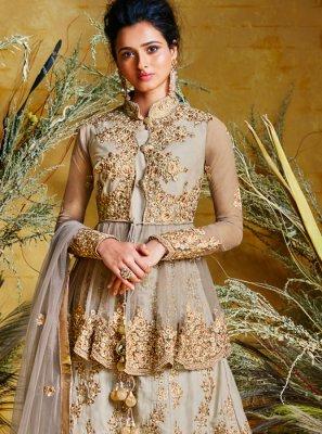 Net Embroidered Floor Length Anarkali Suit