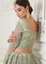 Net Embroidered Sea Green Designer Lehenga Choli