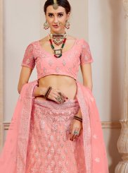 Net Fancy Pink Lehenga Choli
